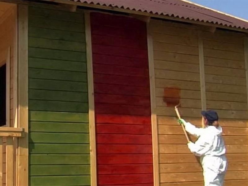 виды красок для дерева