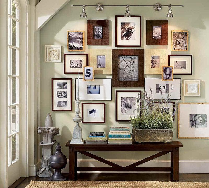 36 стильных идей для размещения фотографий в интерьере