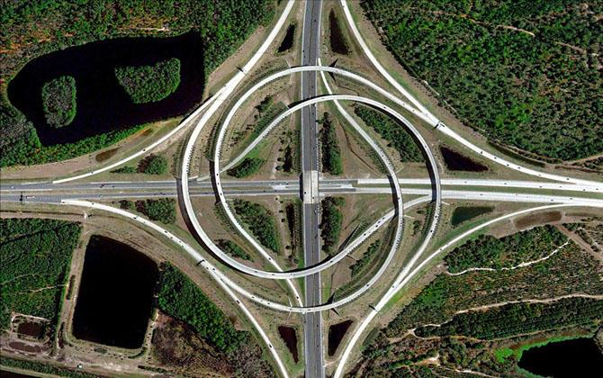 3. Дорожная развязка в Джексонвиле, Флорида.