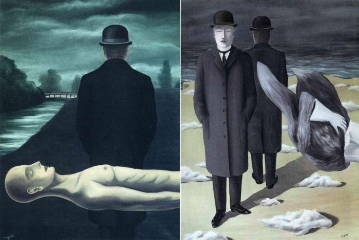 Впервые образ мужчины в пальто и в котелке появляется в «Размышлениях одинокого прохожего» в 1926 г.