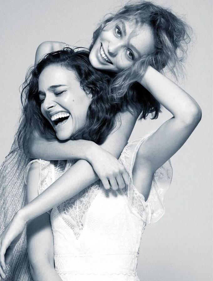 Натали Портман и Лили-Роуз Депп в Madame Figaro