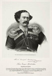 Князь Захарий Гульбатович Чавчавадзе, полковник, командир Дагестанского конного иррегулярного полка