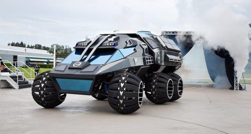 Концептуальный автомобиль марсохода Mars 2020 безупречно подошелбы вкачестве космического бэтмобиля