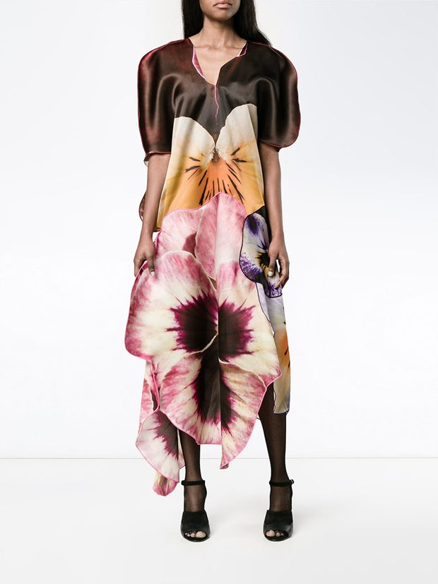CHRISTOPHER KANE floral print asymmetric dress