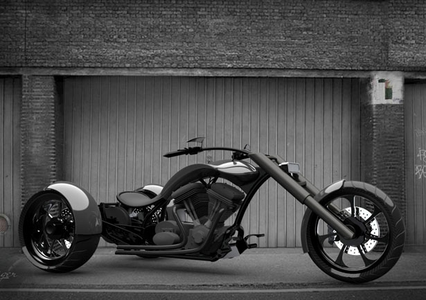 Концепт Nasty T Chopper Trike