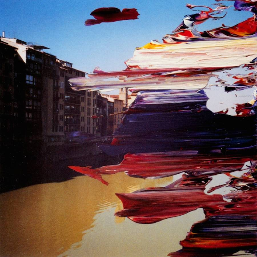Abstract Paint Brushstrokes on Photographs