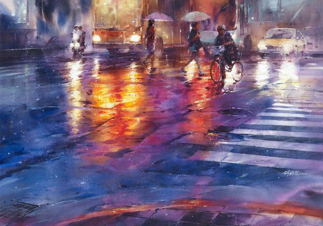 Street Watercolor Paintings by Lin Ching-Che