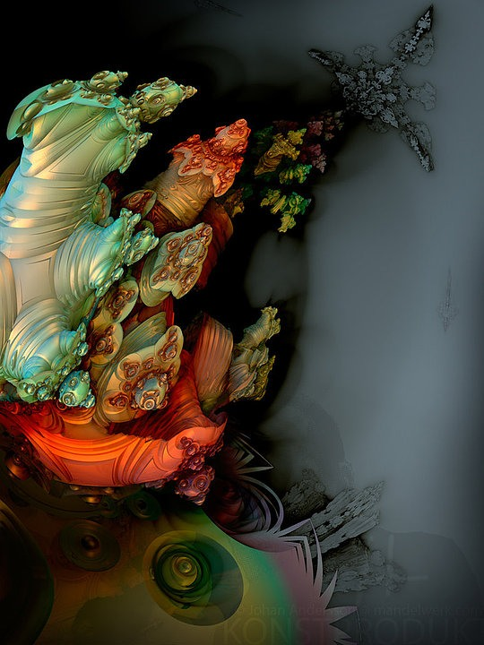 Hot 3D Fractals by Johan Andersson