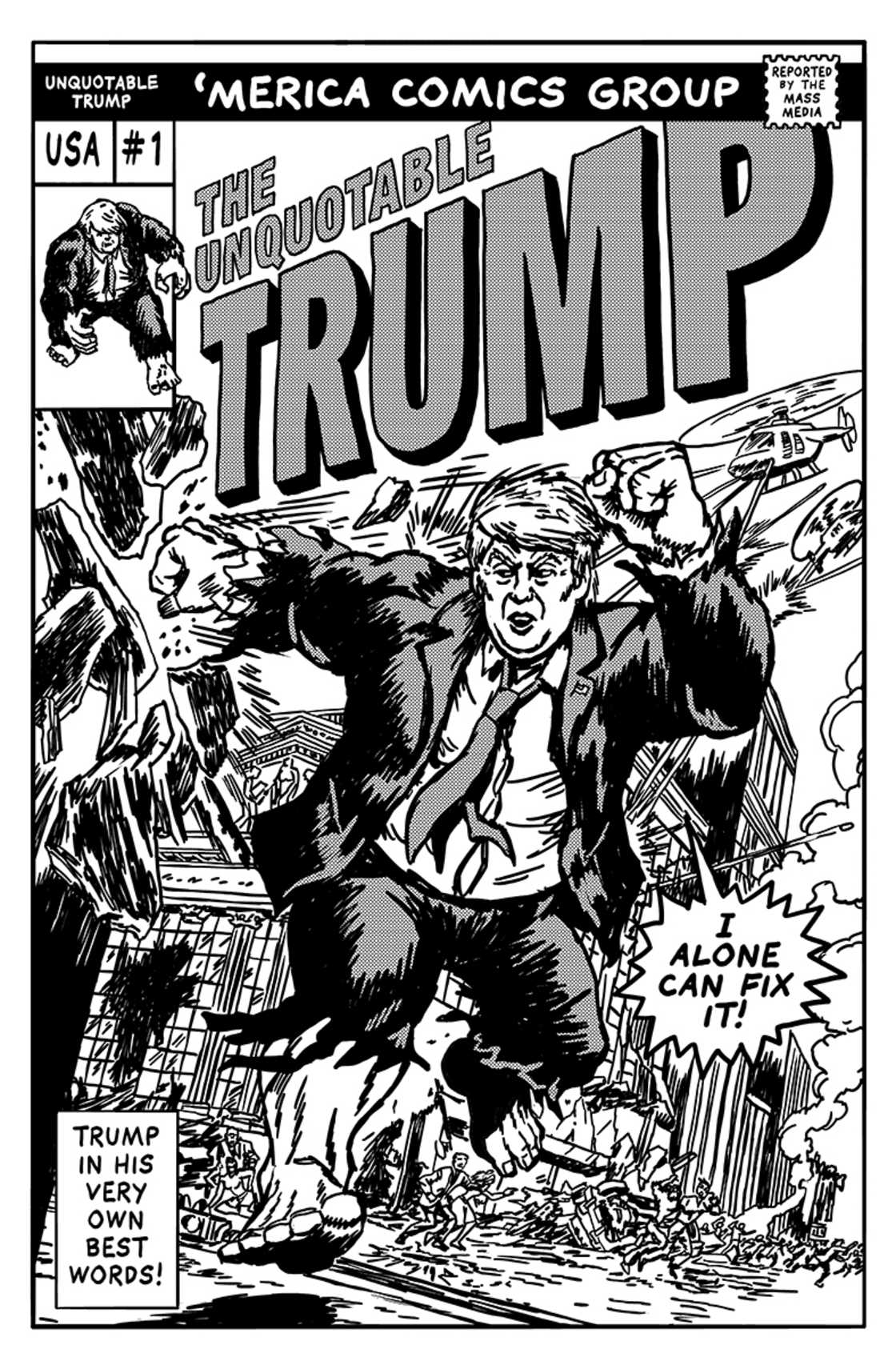 The Unquotable Trump – Transformer les citations de Trump en comics celebres (13 pics)