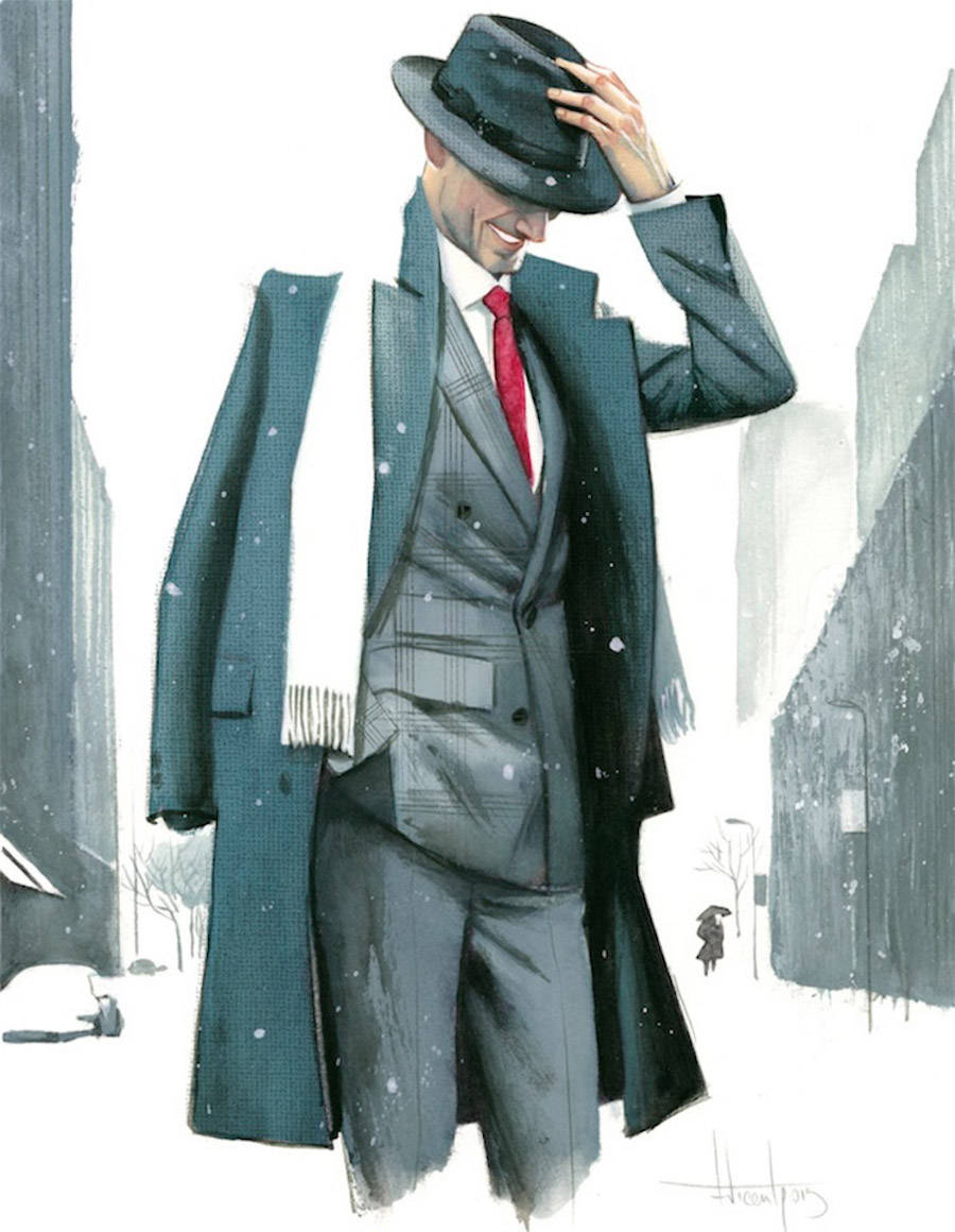 Illustrations of Gentlemen's Fashion by Fernando Vicente