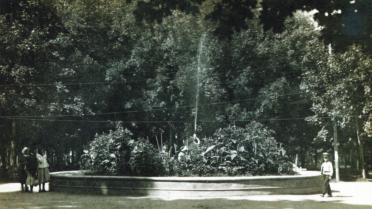 Фонтан в саду Блонье
