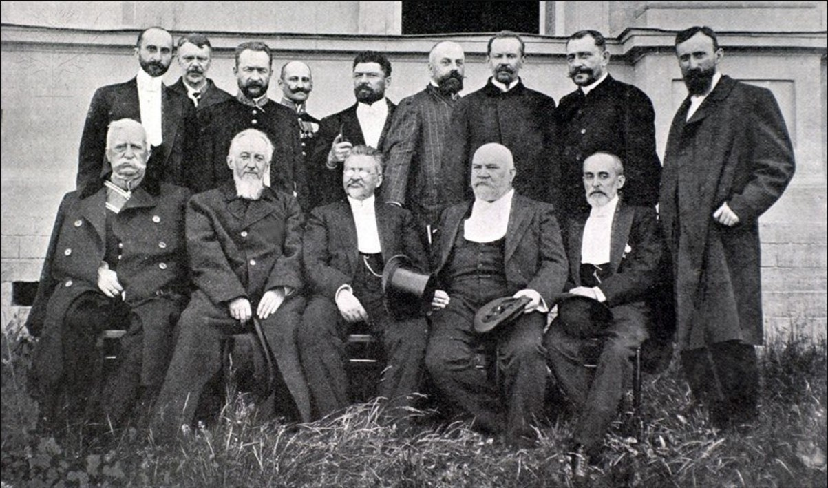 1905. Делегация Земского Собрания из Москвы и Санкт-Петербурга