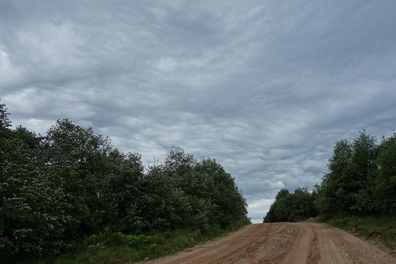 вымеобразные облака, похоже