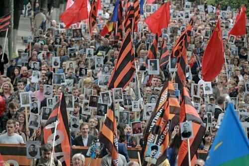 """""""Бессмертный полк"""" в Кишиневе объединил 40 тысяч граждан"""