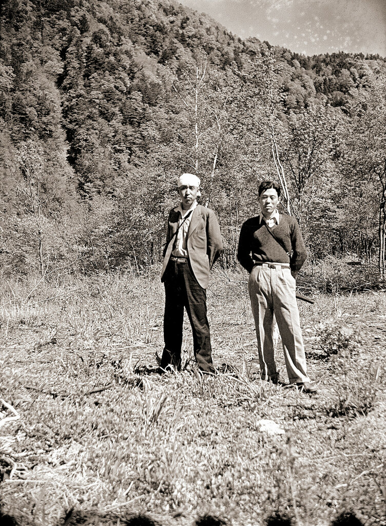 Two Men in a Field, 1930s Japan.