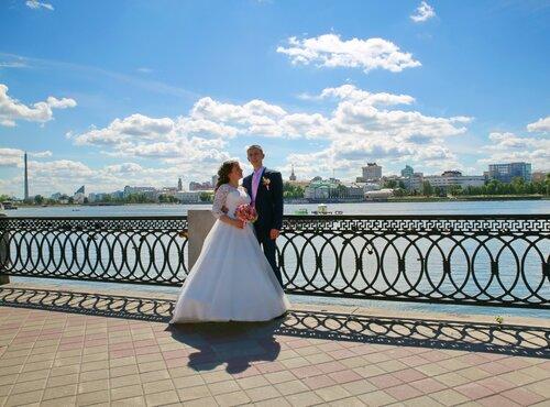 На набережной Екатеринбурга