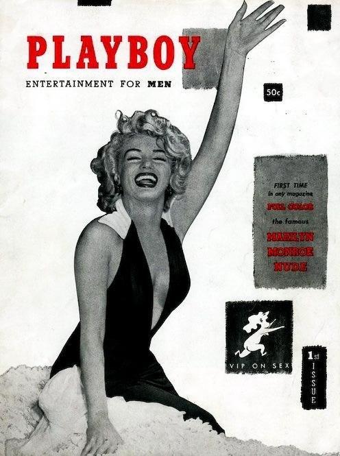 1953 год. Самый первый номер Playboy с Мэрилин Монро на обложке.