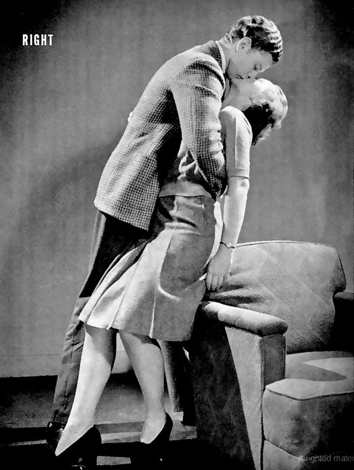 Руководство журнала LIFE 1940-х годов учит, как правильно целоваться