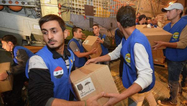 МинобороныРФ: Сирия получила 40 тонн гуманитарной помощи отАрмении