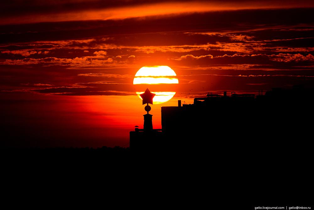 Чудесные виды Волгограда с высоты птичьего полёта