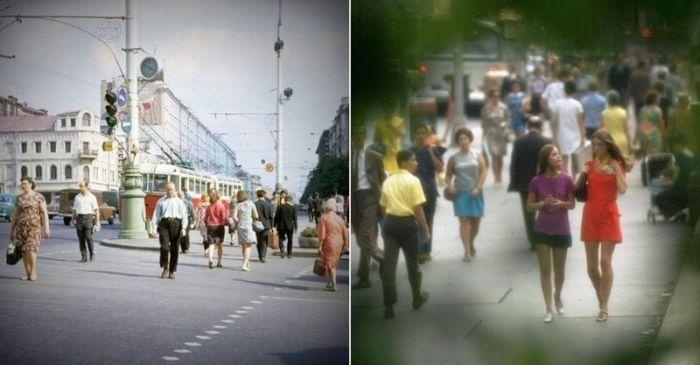 Москва и Нью-Йорк в 1969 году
