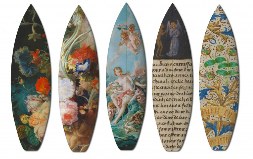 Famous Oil Paintings Add a Modern Twist to Limited Edition Boards