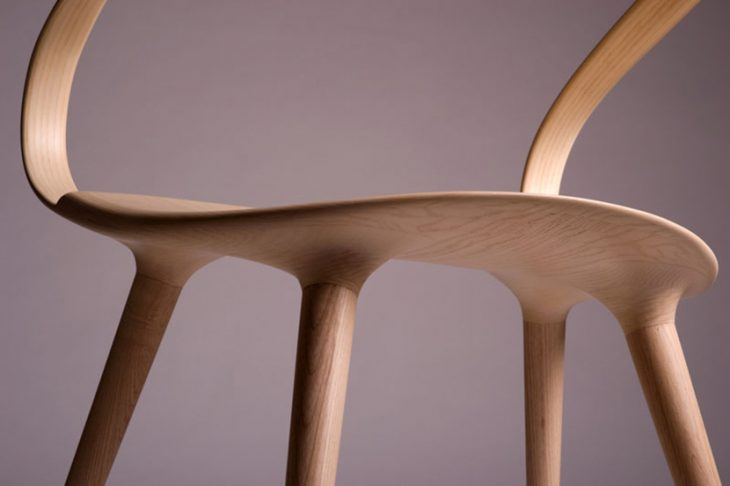 British designer Jan Waterston designed the Velo Chair,a modern wooden chair that is a response to m