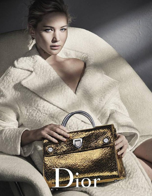 Jennifer Lawrence Stars in Dior Handbags Fall Winter 2016 Campaign