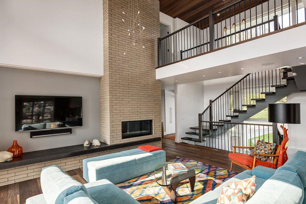 Фото дизайна интерьера частного двухэтажного дома
