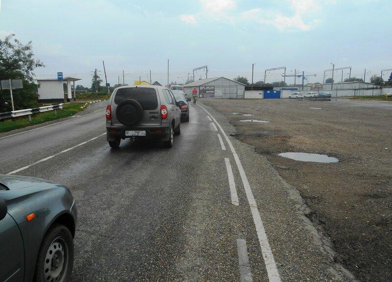 На въезде в Каневскую, у железнодорожного переезда ... DSCN8918.JPG