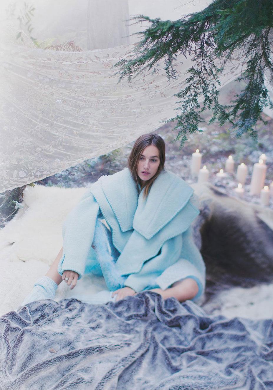 Снежная королева - Жозефин ле Тютур / Josephine Le Tutour by Alexandra Sophie - Harper's Bazaar UK january 2017