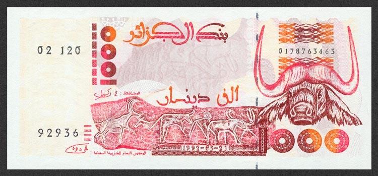 Алжир, 1000 динаров, 1992
