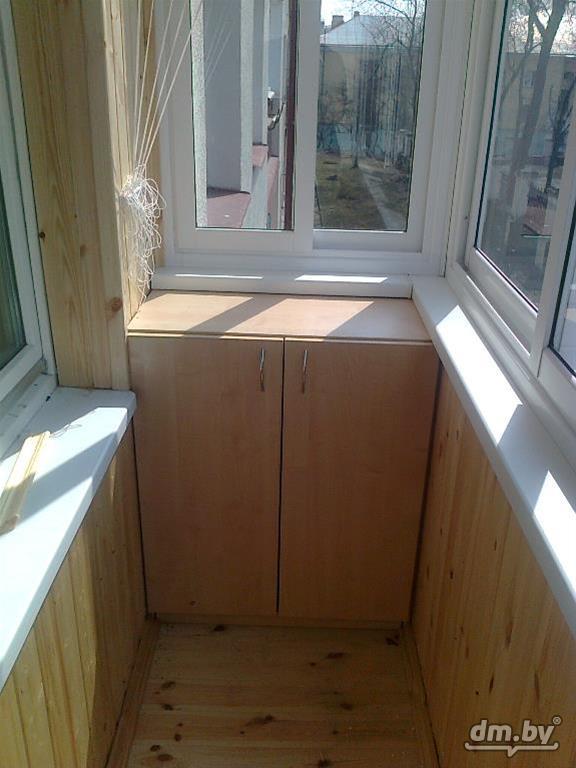 Шкафы,тумбочки на балкон и лоджию в минске, вид операции про.