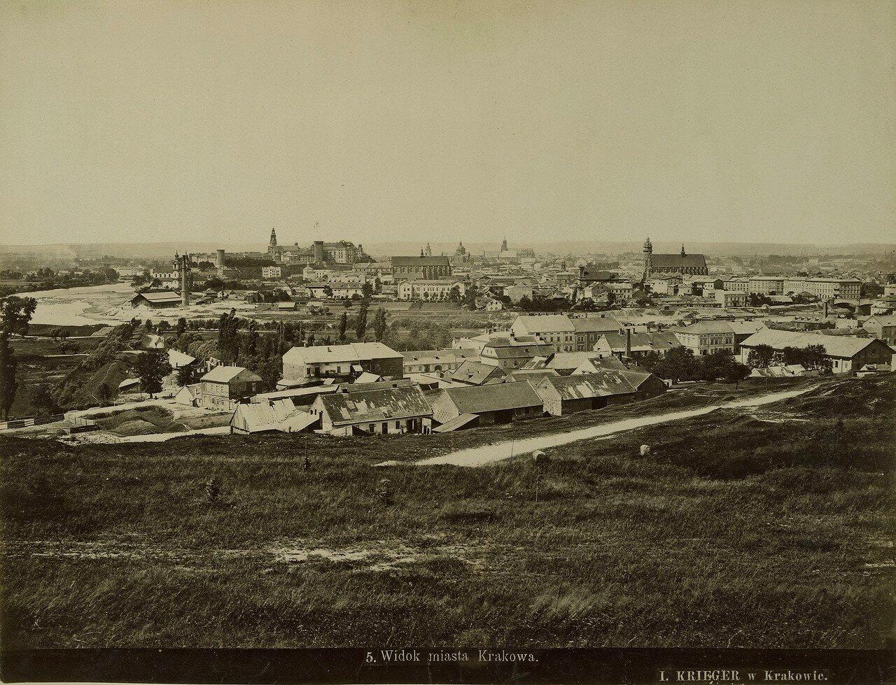 Австро-Венгрия. Вид на город Краков