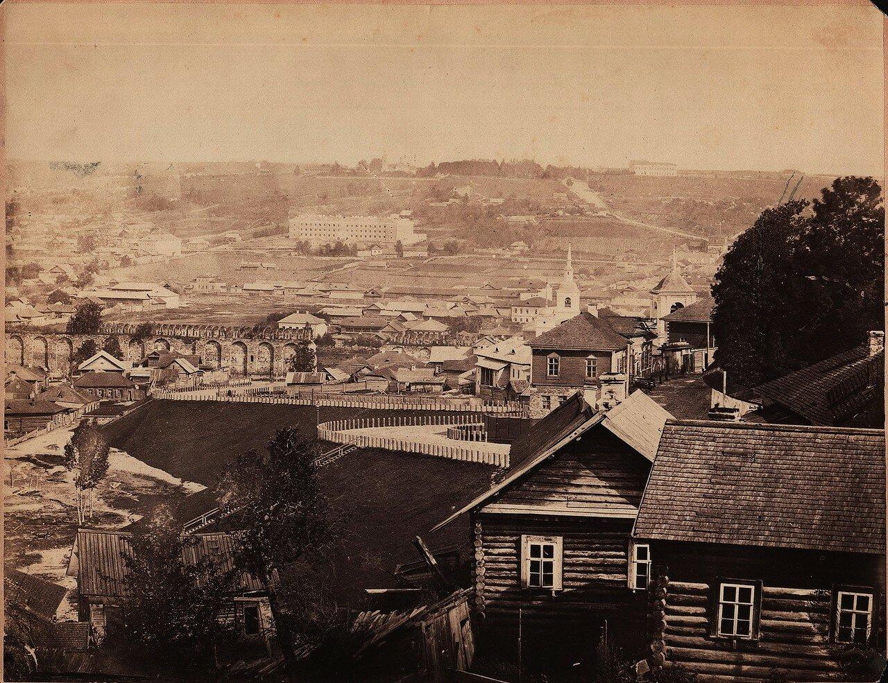 Вид на Троицкое шоссе и Заднепровье. 1863—1866 (первые снимки Смоленска)
