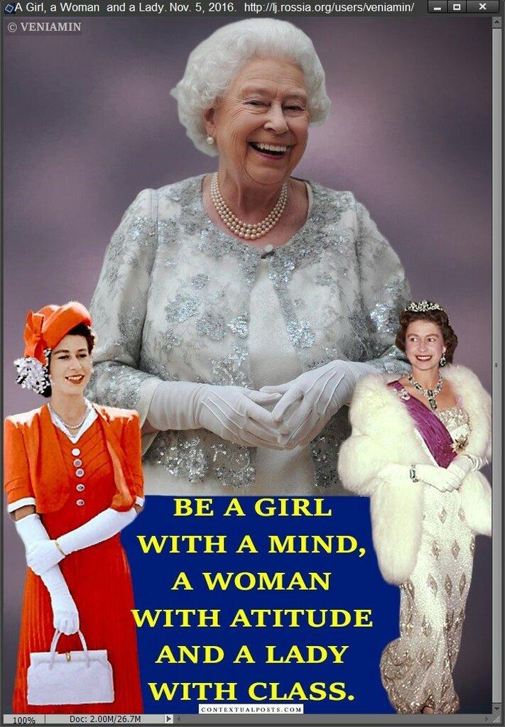 Quinn Elizabeth II, Королева Елизавета II. Портретка, Плакатка.