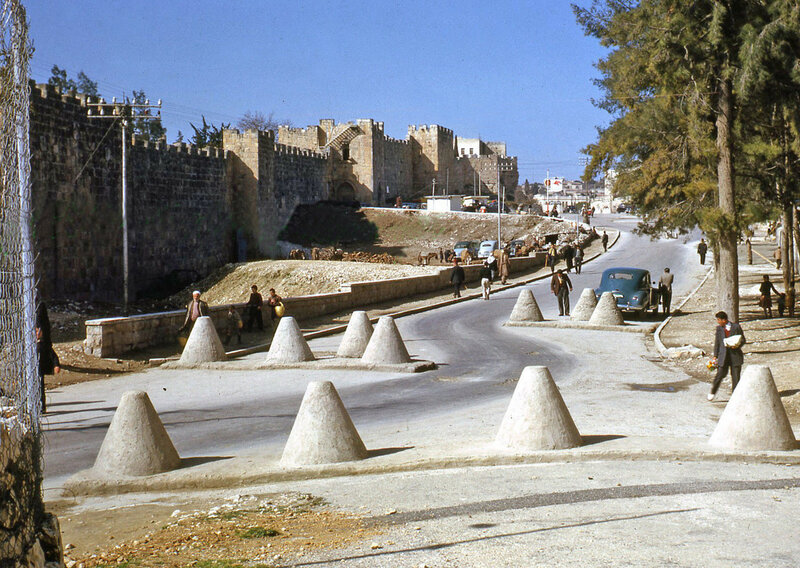 1950s Israel Jerusalem Roadblocks.jpg