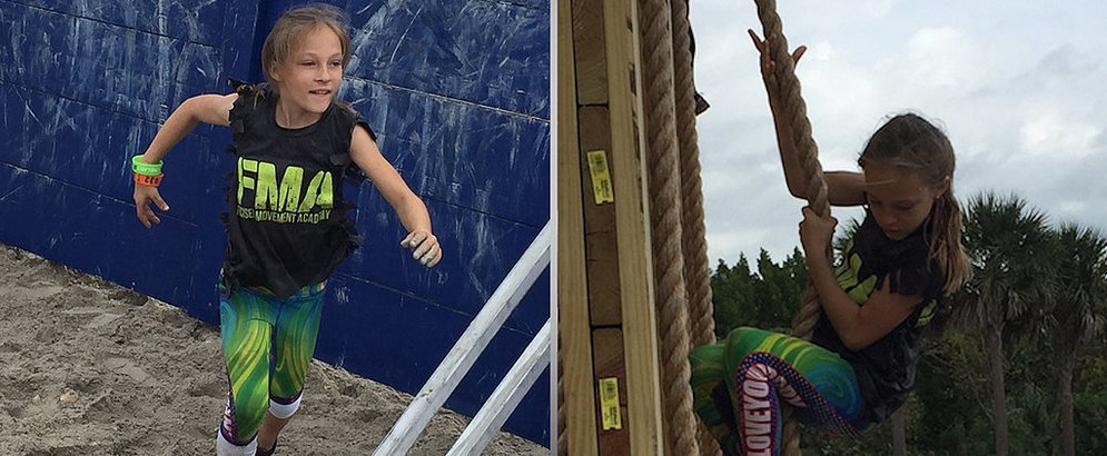 9-летняя девочка прошла марафон с препятствиями от американских спецназовцев
