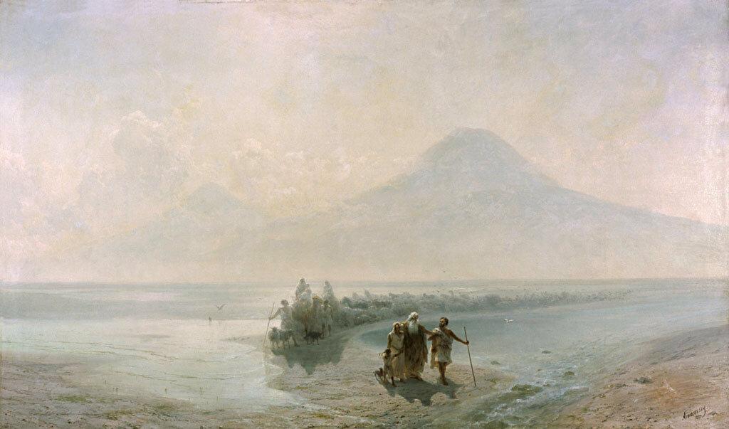 Сошествие Ноя с Арарата - И.К. Айвазовский,1889