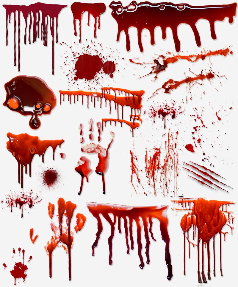 кровь на стене лужи пятна брызги PNG прозрачный фон