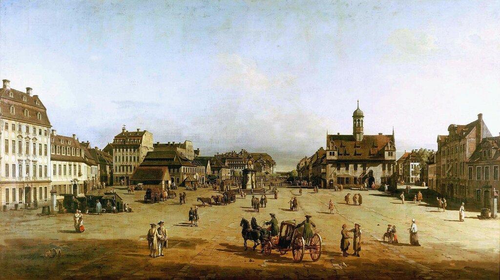 Dresden, Neustaedter Markt / Bellotto