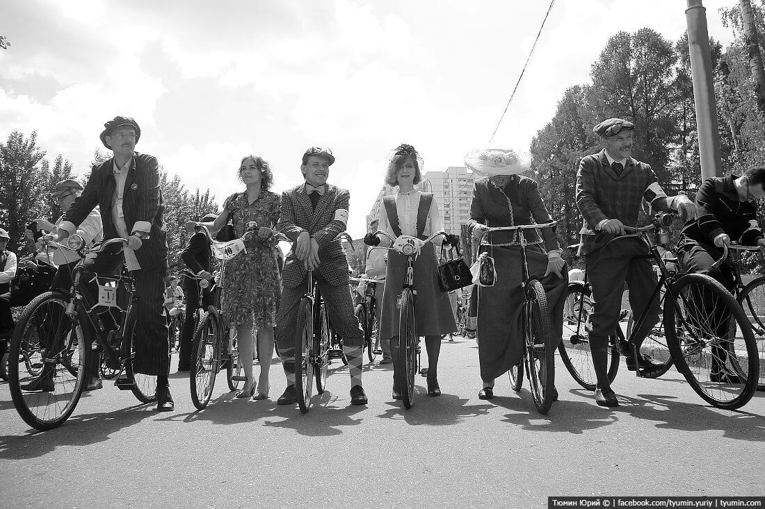 Фестиваль исторических велосипедов