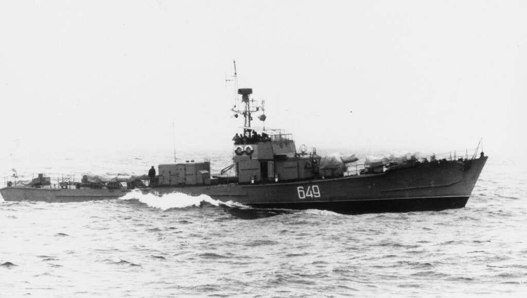 Soviet SO1 Class Submarine Chaser. Pennant #649 in 1969.