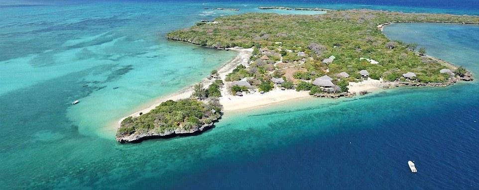 Элитный курорт Азура на частном острове Бенгерра в Мозамбике.