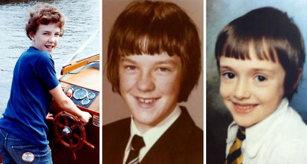Бывшие ведущие Top Gear в детстве — Джереми Кларксон, Джеймс Мэй и Ричард Хаммонд.
