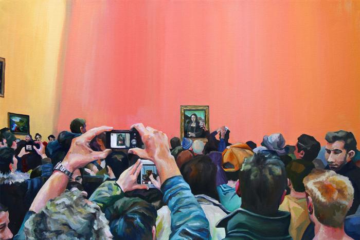 «Когда мы зашли в комнату с картиной «Мона Лиза», я не сразу смогла ее найти. Я видел
