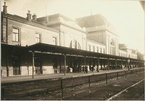 Вид здания вокзала.