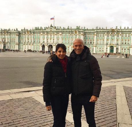 Зиннедин Зидан провел с супругой два дня вПетербурге