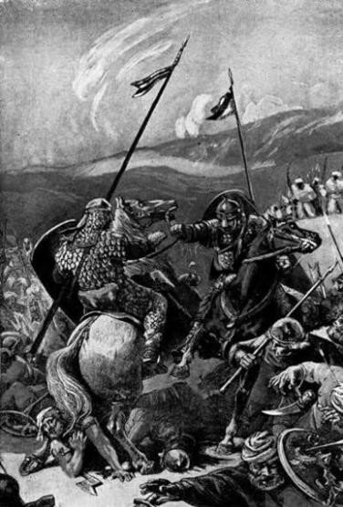 Танкред и Боэмунд в бою во время Первого крестового похода