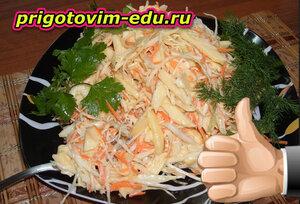 Салатик с редькой и морковью